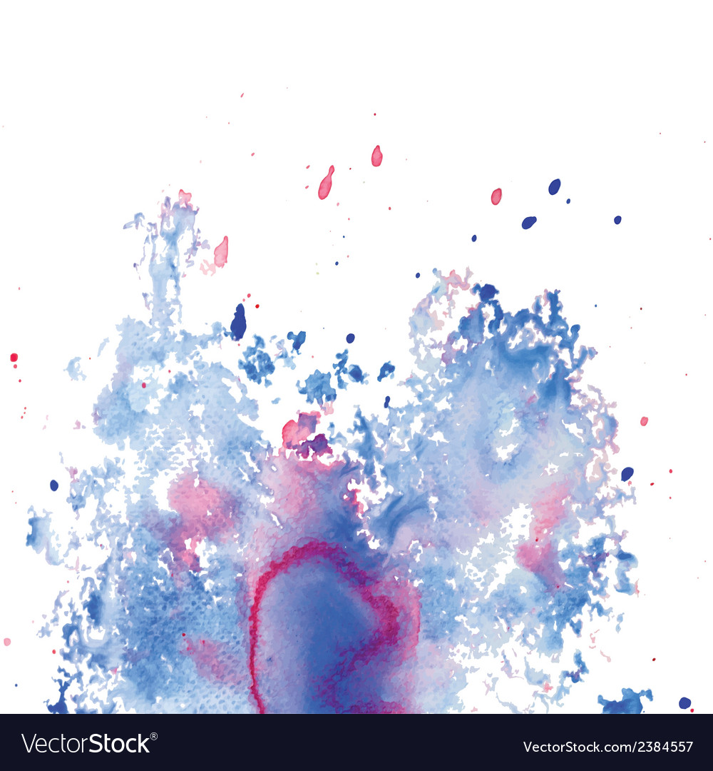 Abstract watercolor splash background vector | Price: 1 Credit (USD $1)
