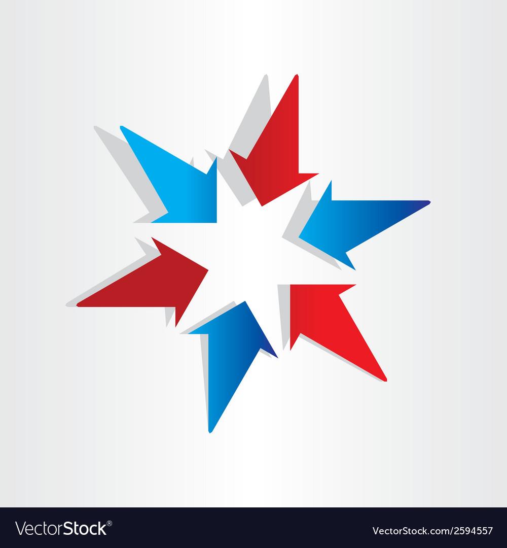 Arrows symbol center target vector   Price: 1 Credit (USD $1)