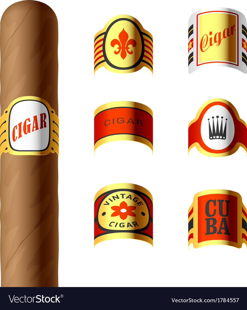 Cigar labels vector | Price: 1 Credit (USD $1)