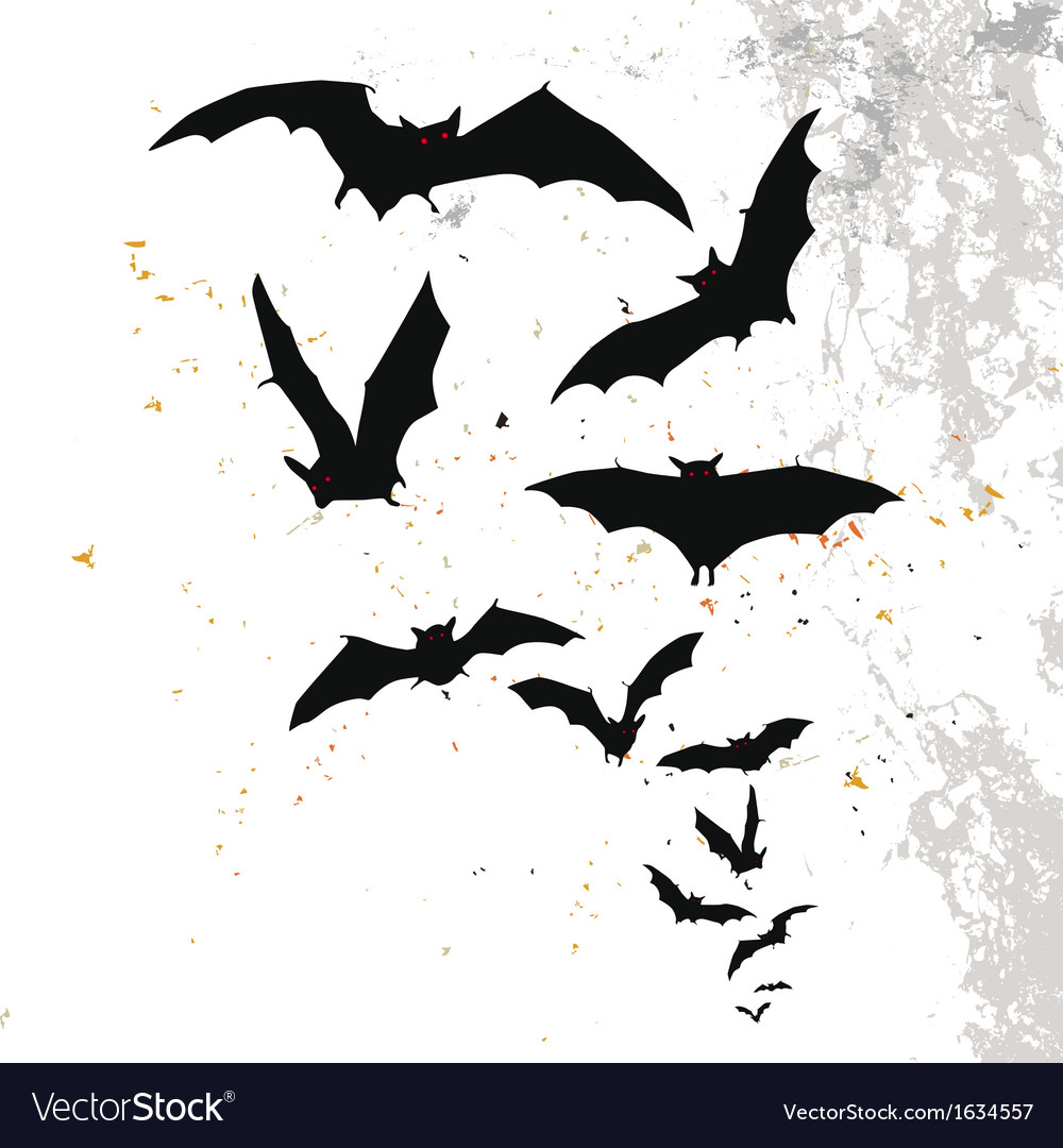 Halloween background with flying bats vector | Price: 1 Credit (USD $1)