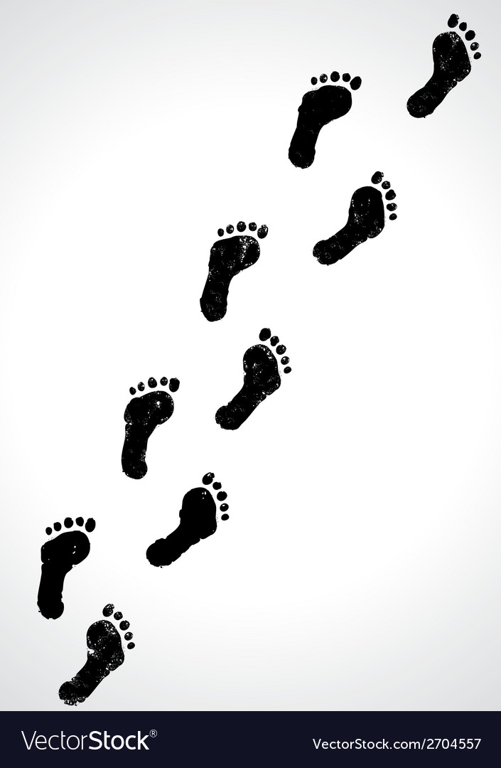 Human tracks vector | Price: 1 Credit (USD $1)