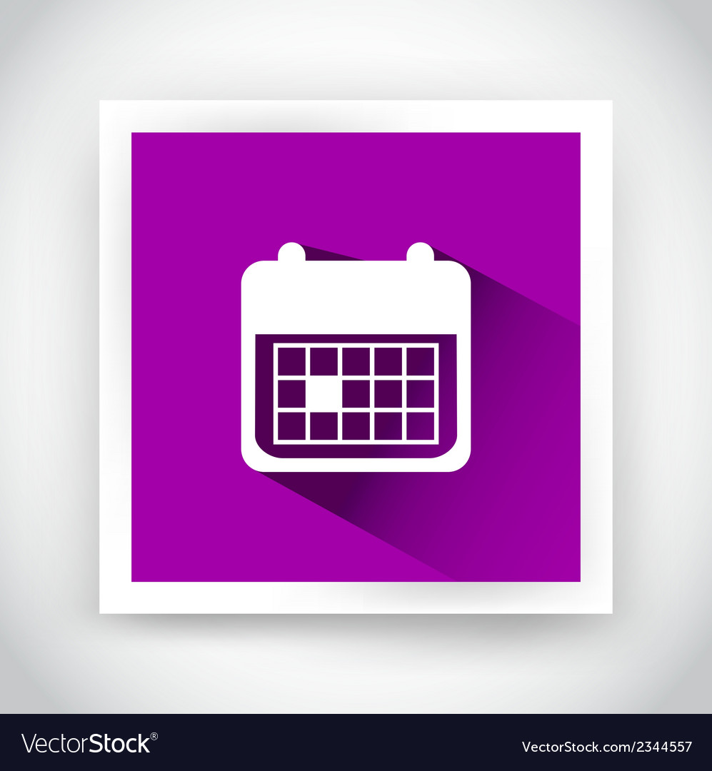 Icon of calendar for web and mobile applications vector | Price: 1 Credit (USD $1)