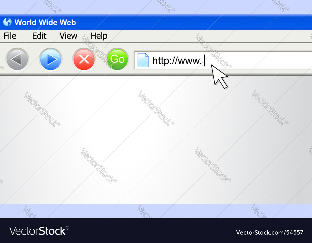 Internet browser screen with urn vector | Price: 1 Credit (USD $1)