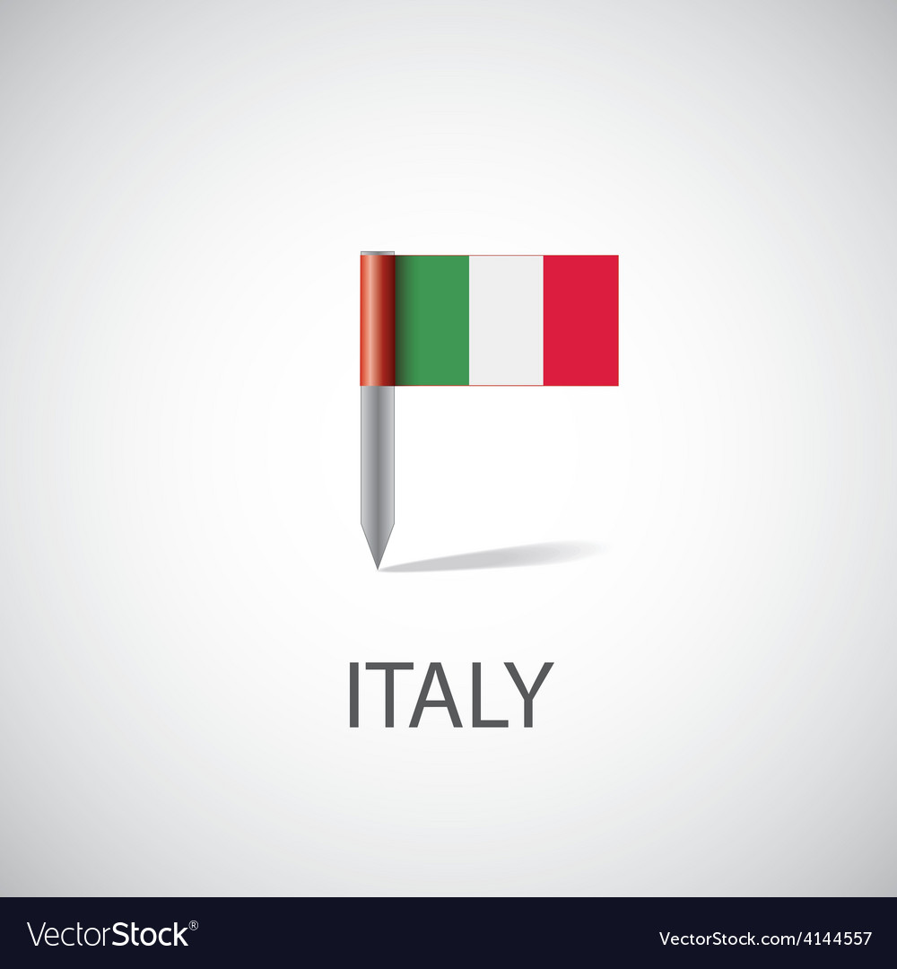 Italy flag pin vector | Price: 1 Credit (USD $1)