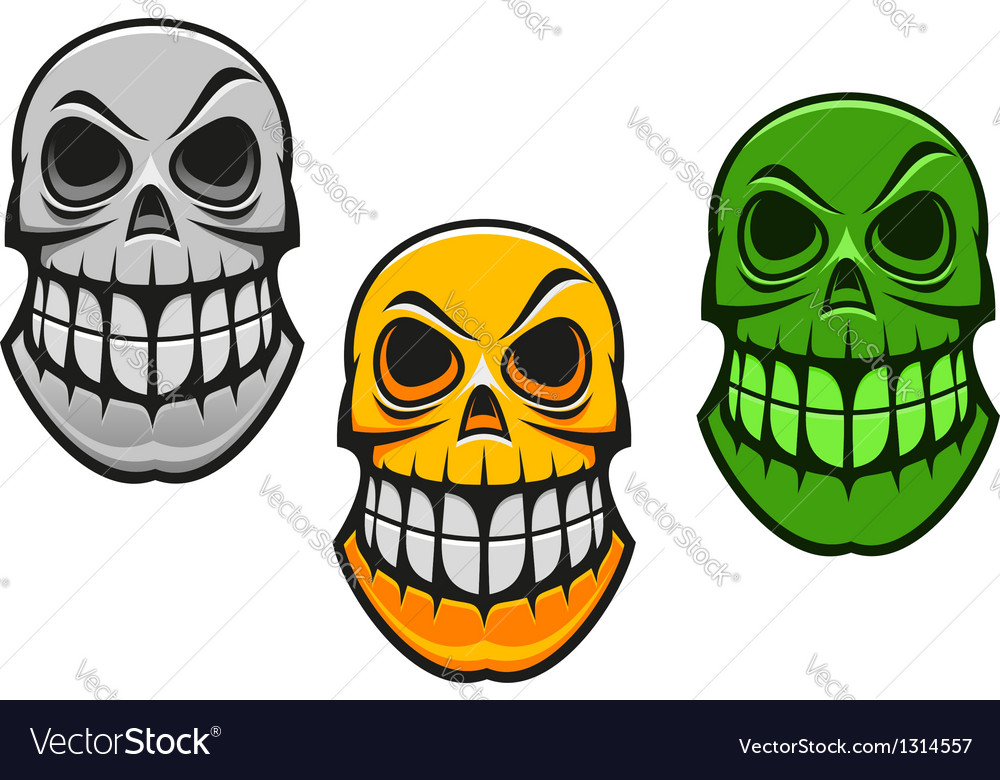 Monster skull vector | Price: 1 Credit (USD $1)