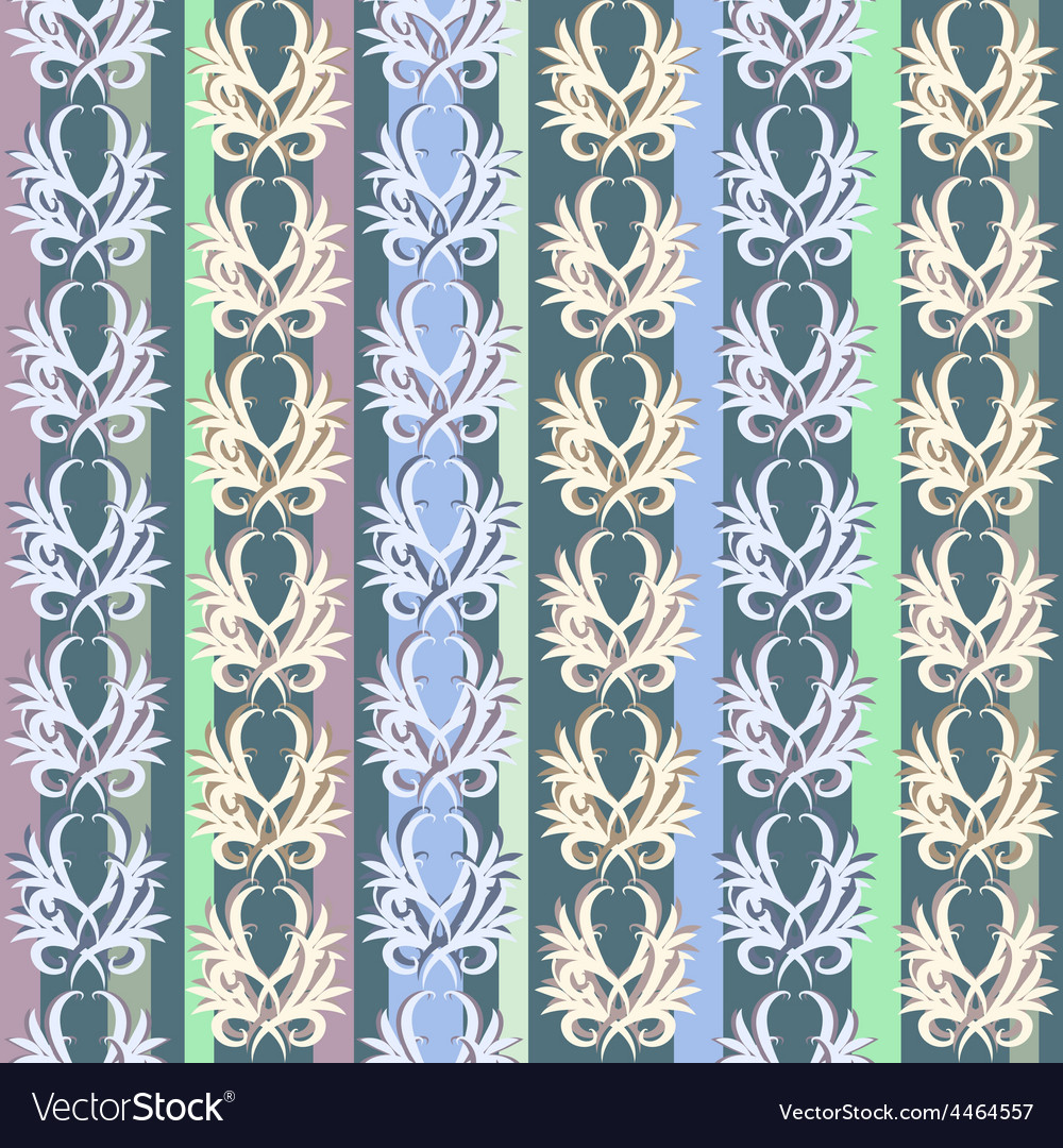 Seamless vintage floral pattern vector | Price: 1 Credit (USD $1)