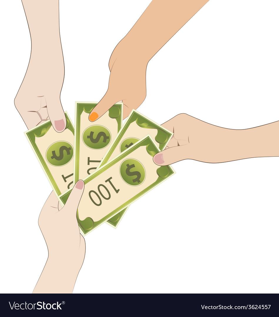 Share money vector | Price: 1 Credit (USD $1)