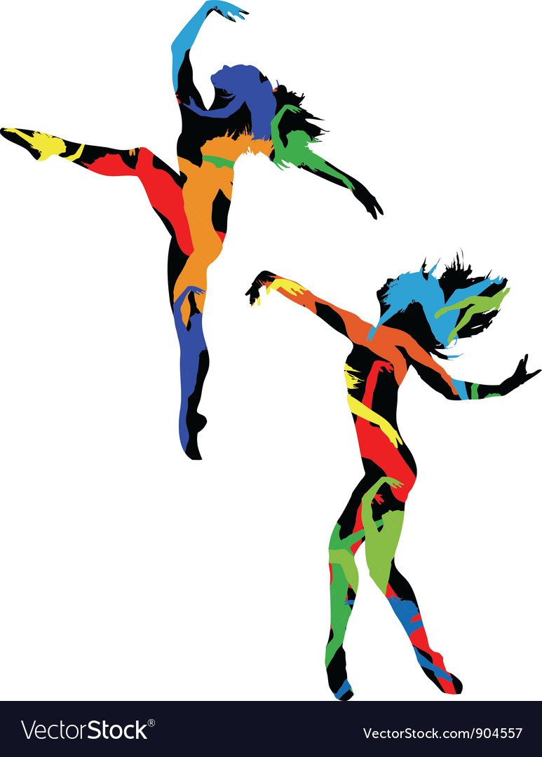 Silhouette of the dancer vector | Price: 1 Credit (USD $1)