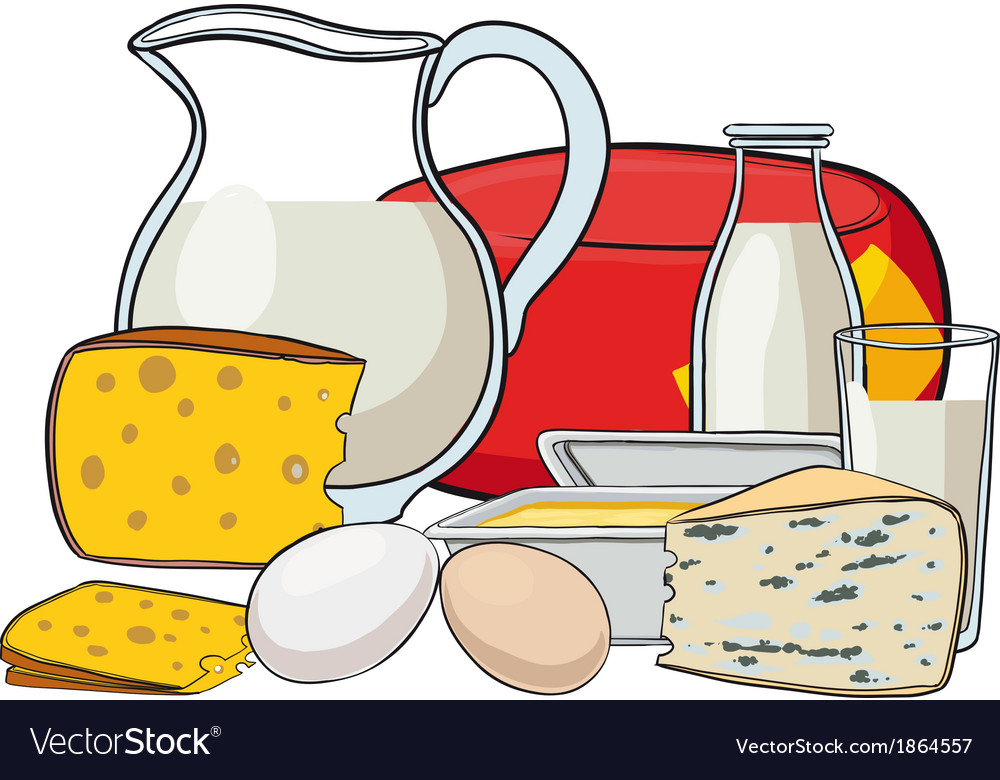 Still life with milk products vector | Price: 1 Credit (USD $1)