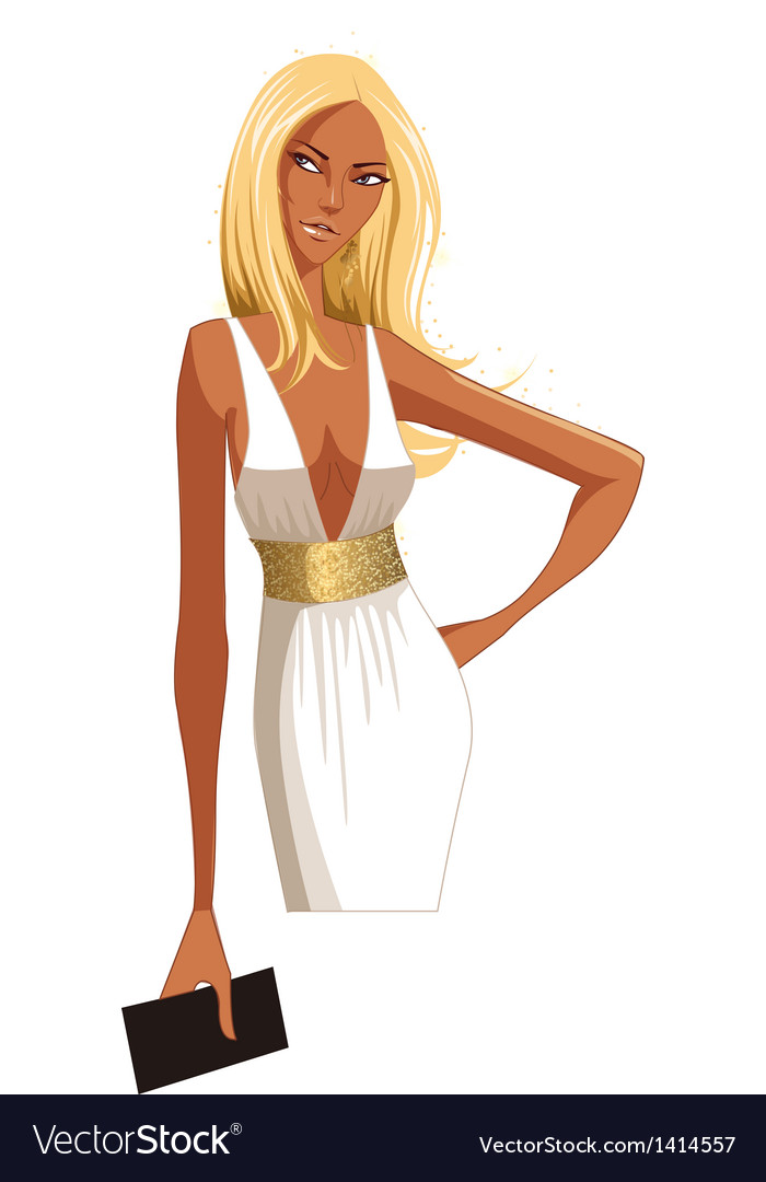 Stylish blond woman vector | Price: 3 Credit (USD $3)