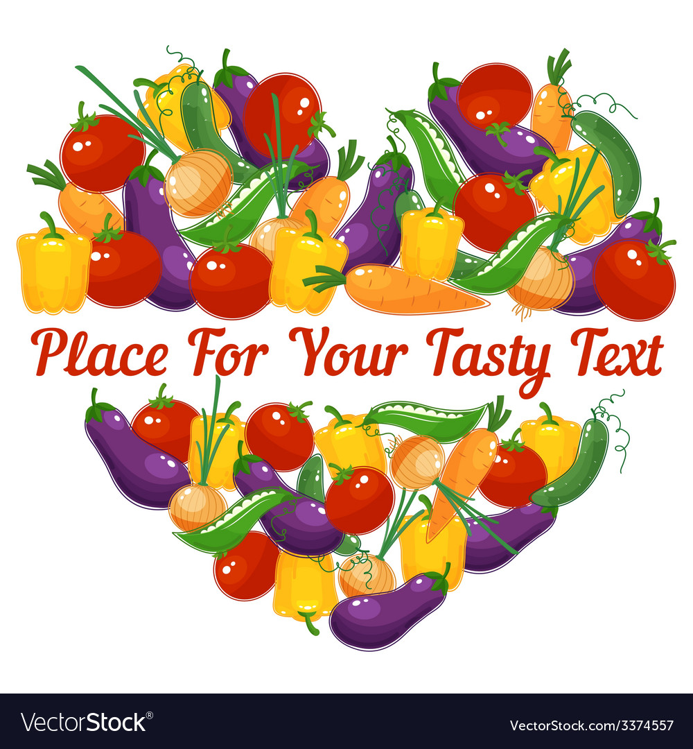 Vegetable heart for healthy lifestyle vector | Price: 1 Credit (USD $1)