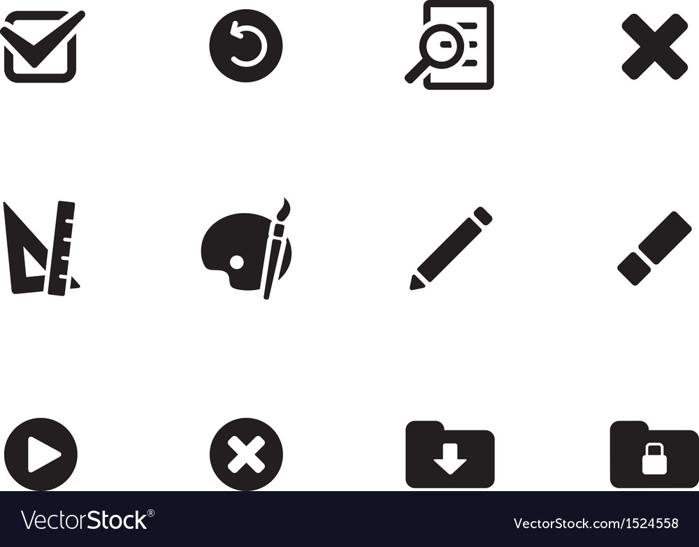 Application interface icons vector | Price: 1 Credit (USD $1)