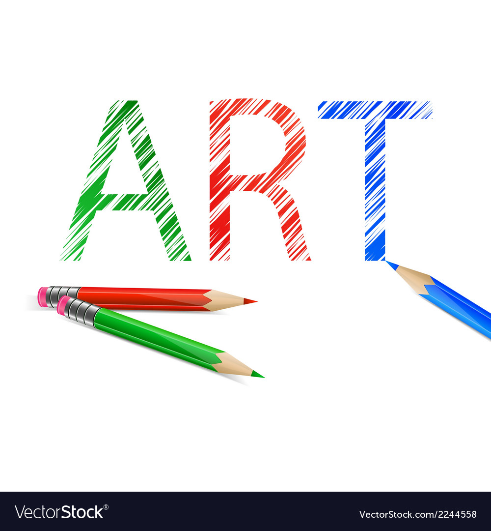 Art word drawn with pencils vector | Price: 1 Credit (USD $1)