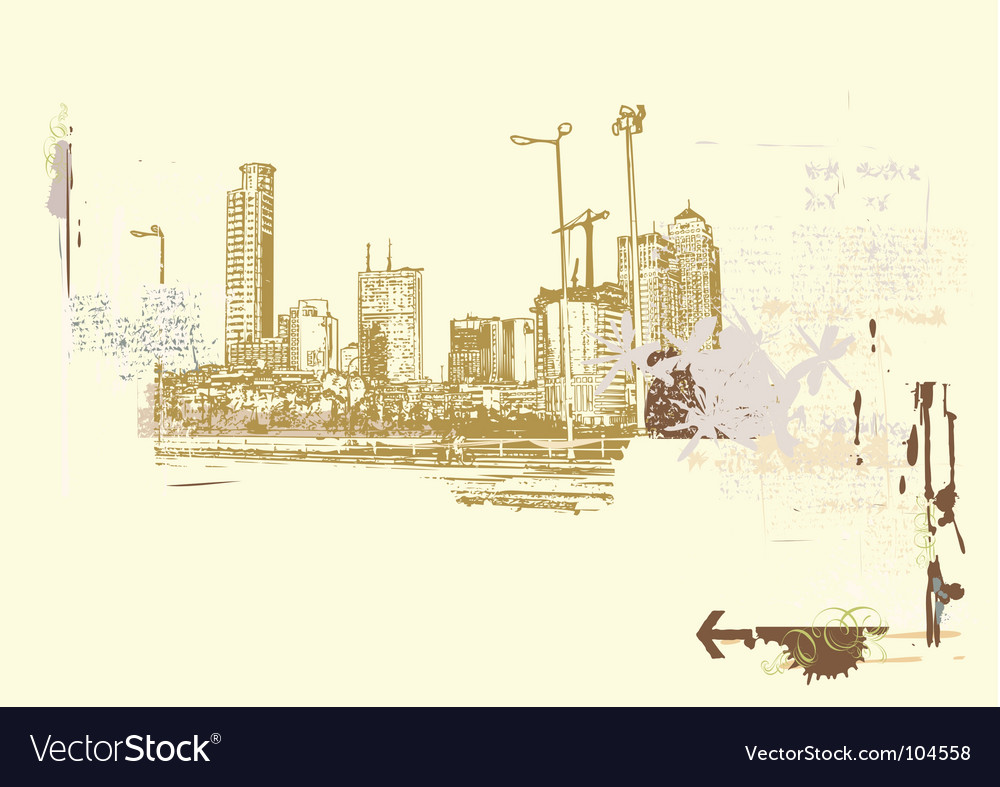 Big city vector | Price: 1 Credit (USD $1)