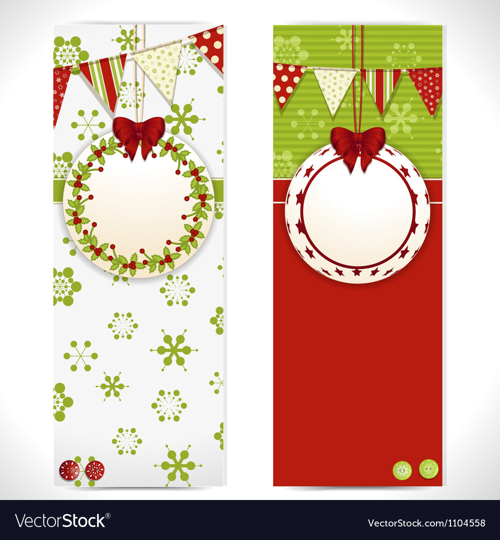 Christmas banner background labels vector | Price: 1 Credit (USD $1)