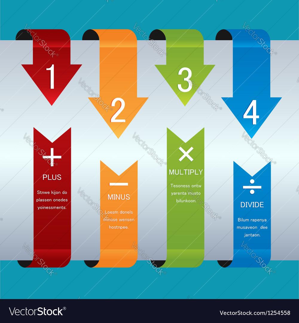 Color ribbon design template vector | Price: 1 Credit (USD $1)