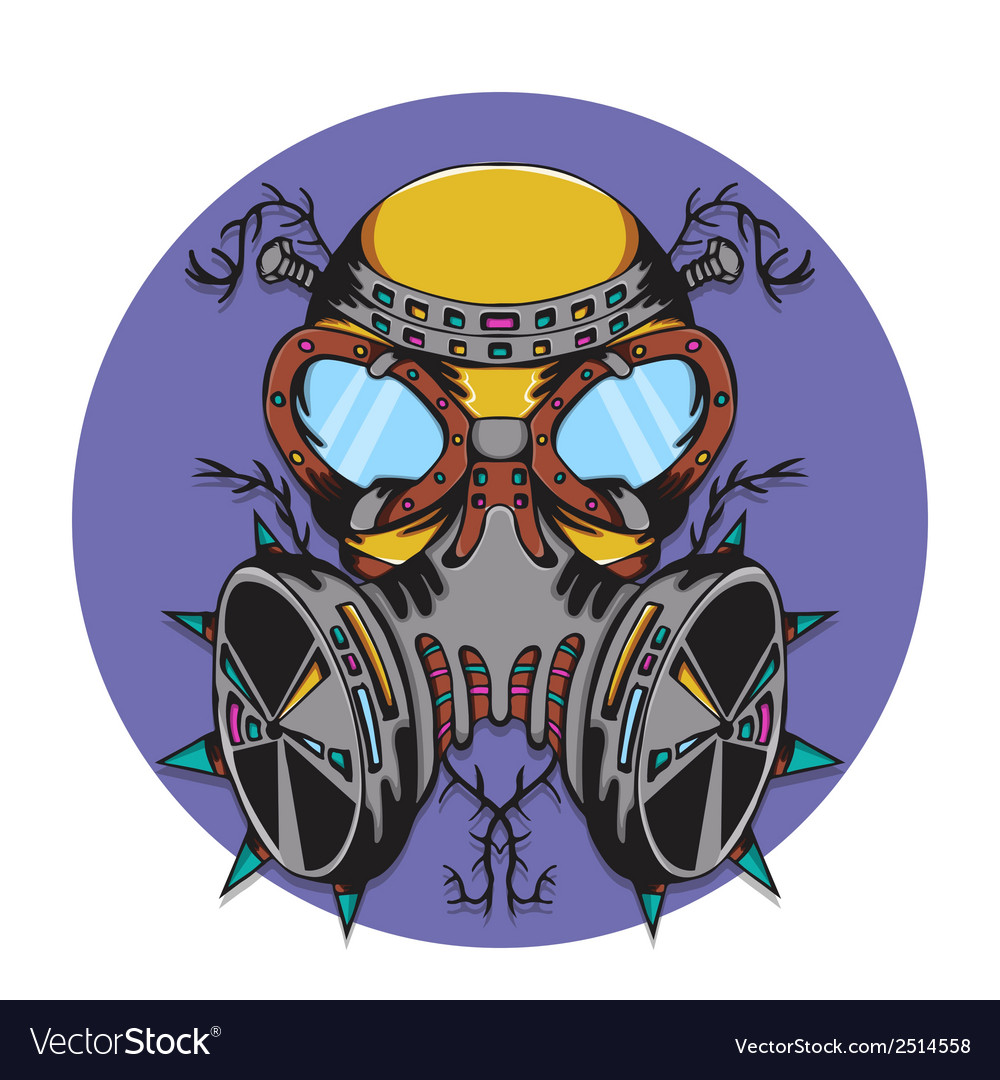 Crazy gas mask bio hazard monster vector | Price: 1 Credit (USD $1)