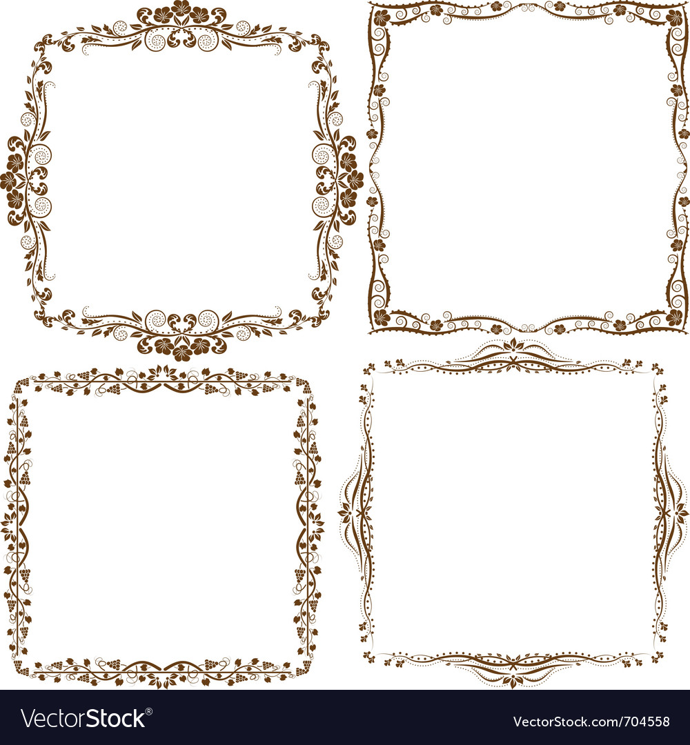 Decorative border vector | Price: 1 Credit (USD $1)