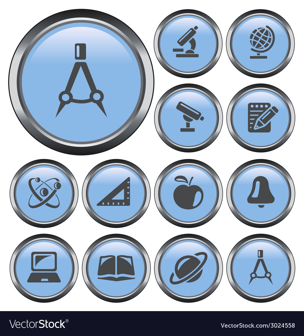 Education buttons vector | Price: 1 Credit (USD $1)