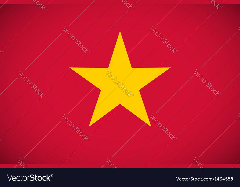 National flag of vietnam vector | Price: 1 Credit (USD $1)
