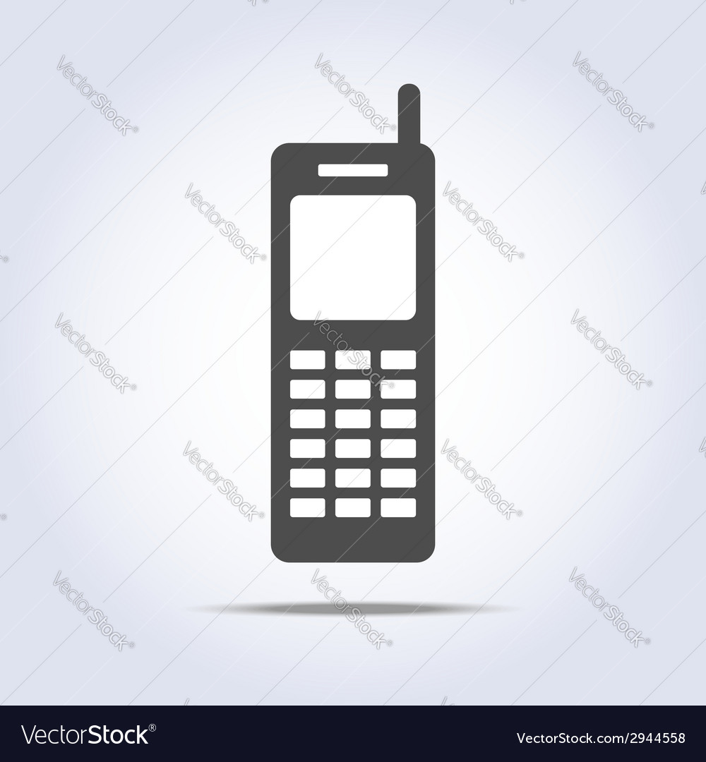 Phone retro icon gray colors vector | Price: 1 Credit (USD $1)