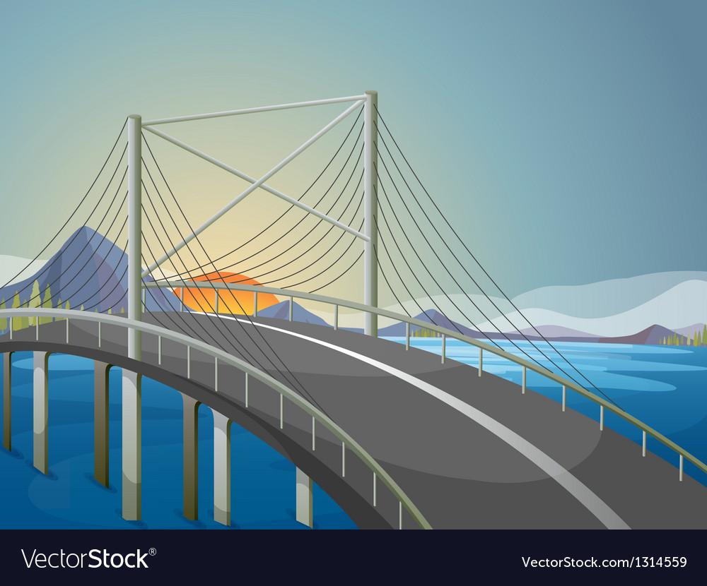 A long bridge vector | Price: 1 Credit (USD $1)