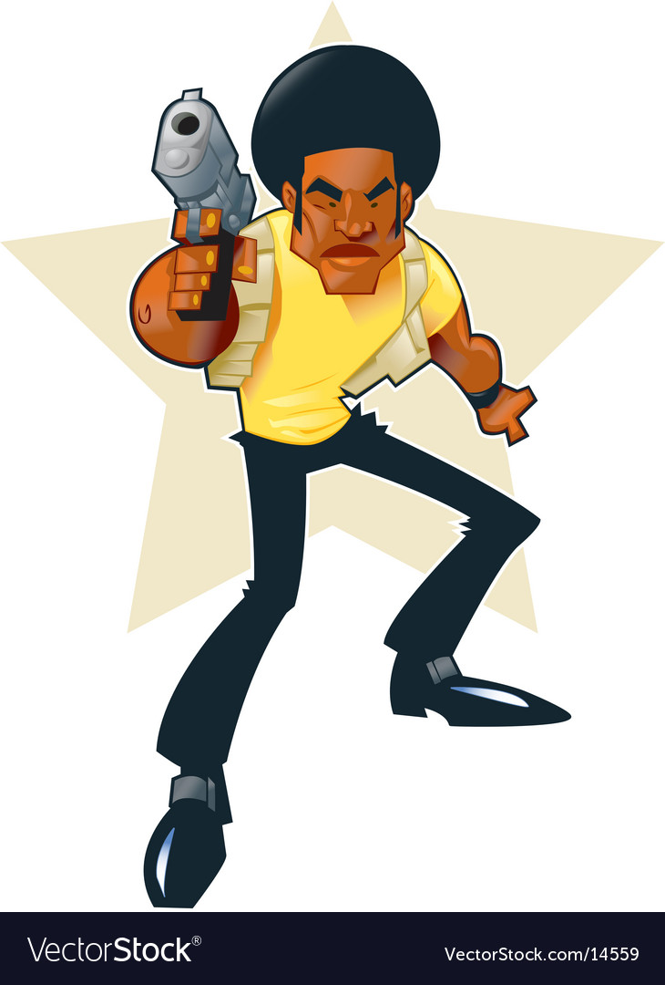 Afro hero vector | Price: 3 Credit (USD $3)