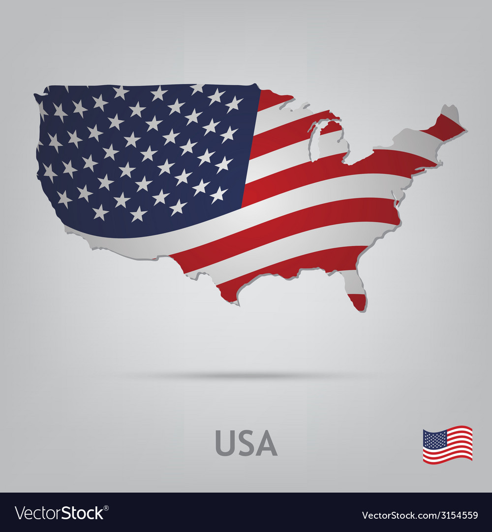 Country usa vector | Price: 1 Credit (USD $1)