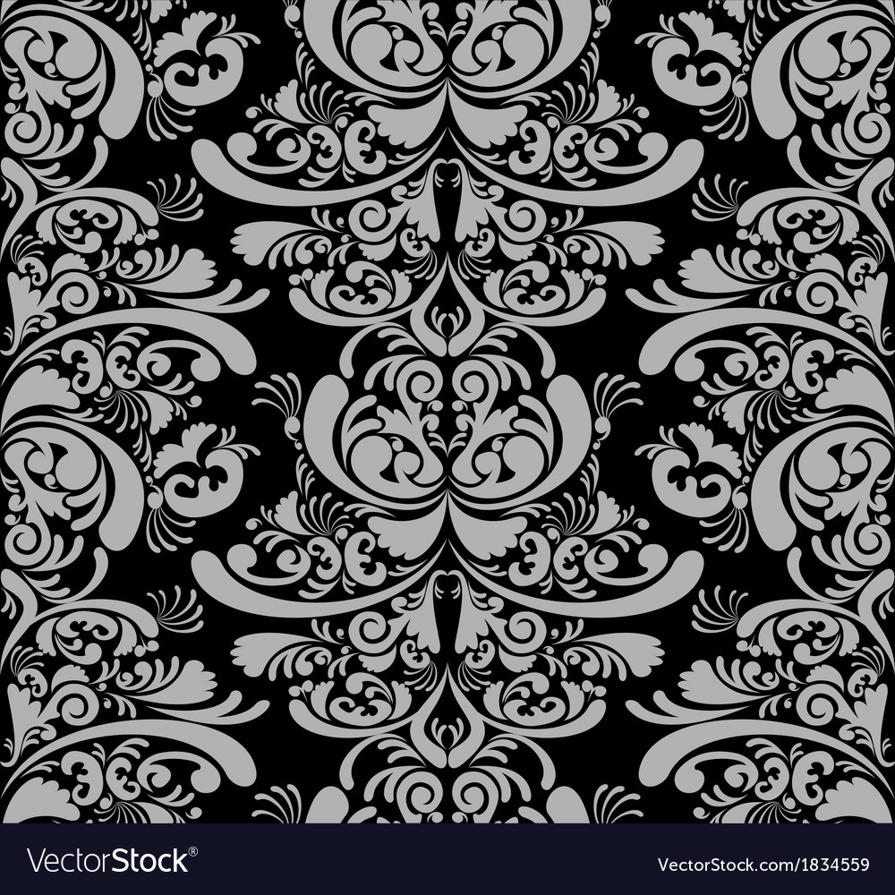 Damask wallpaper background vector | Price: 1 Credit (USD $1)