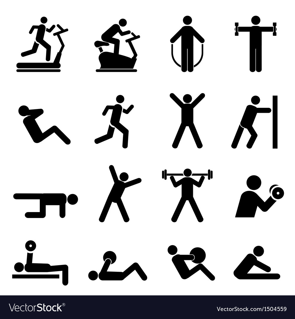 Exercise icons vector | Price: 1 Credit (USD $1)