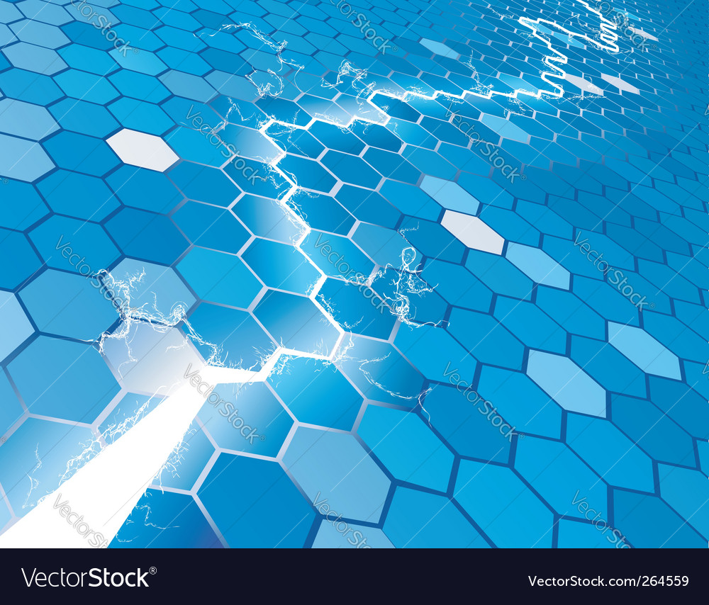 Hexagon background vector | Price: 1 Credit (USD $1)