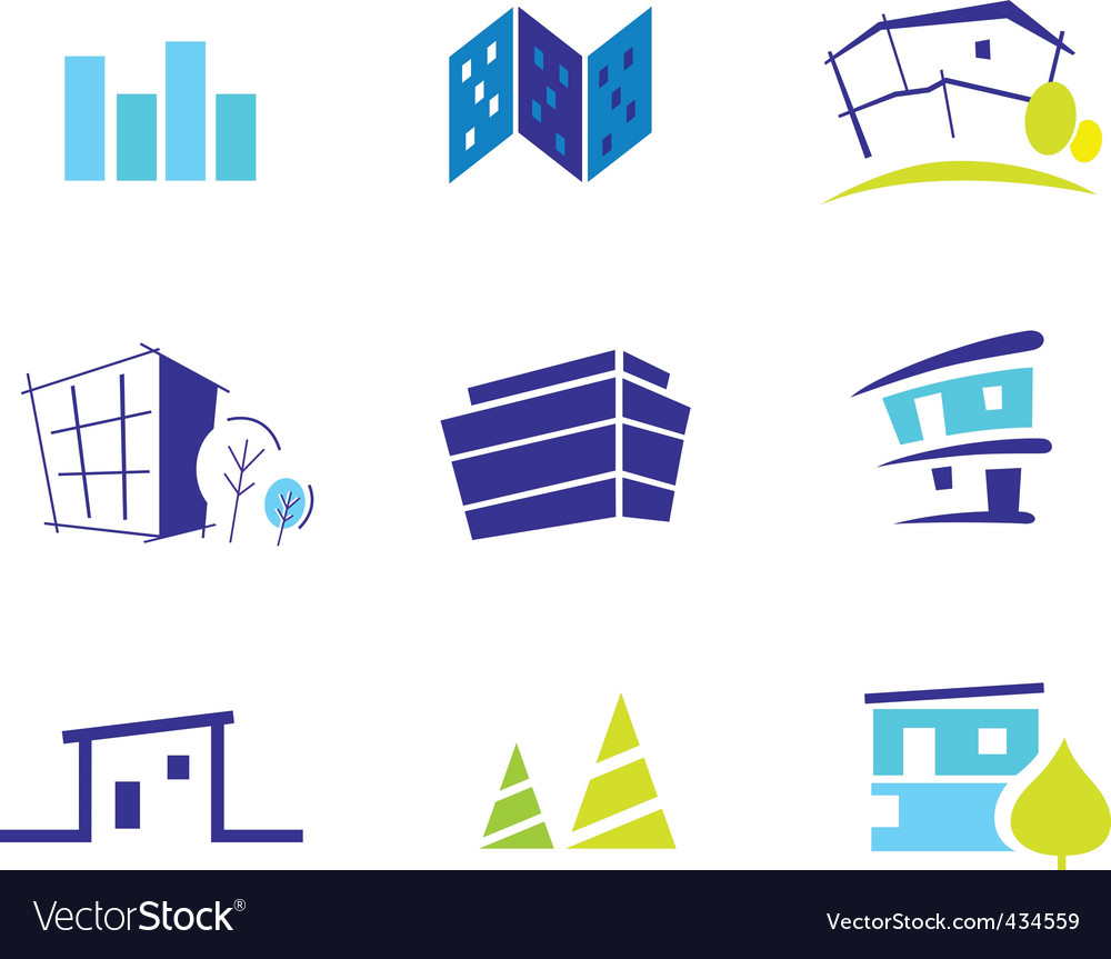 Real estate and nature icons vector | Price: 1 Credit (USD $1)