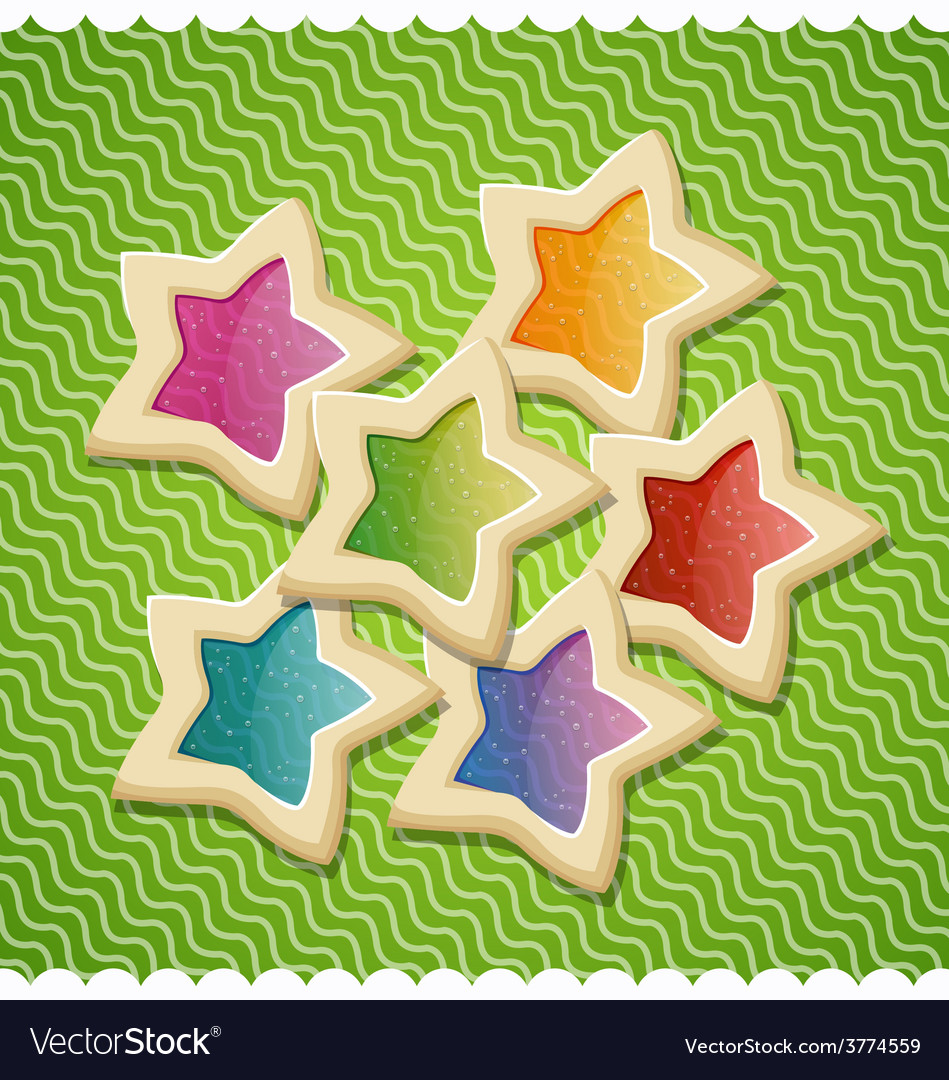 Star shaped cookies for valentines day vector | Price: 1 Credit (USD $1)