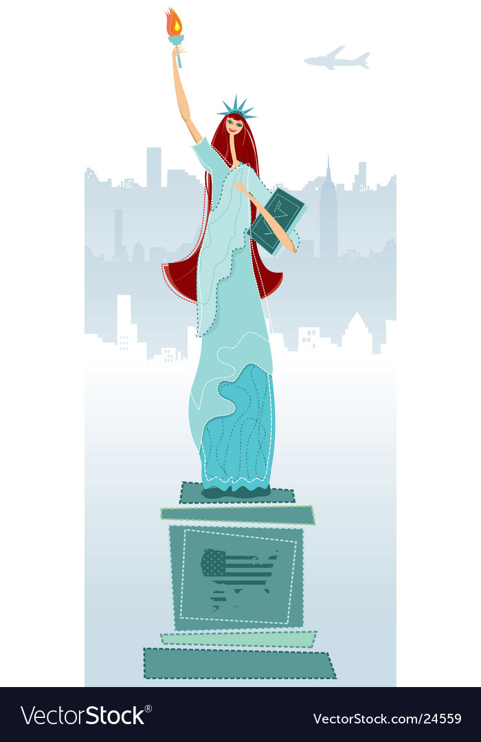 The statue of liberty vector | Price: 3 Credit (USD $3)