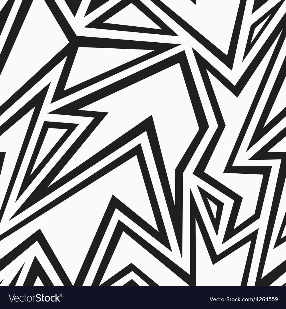 Tribal monochrome seamless pattern vector | Price: 1 Credit (USD $1)
