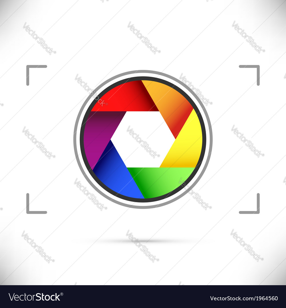 Bright rainbow camera shutter diaphragm vector | Price: 1 Credit (USD $1)