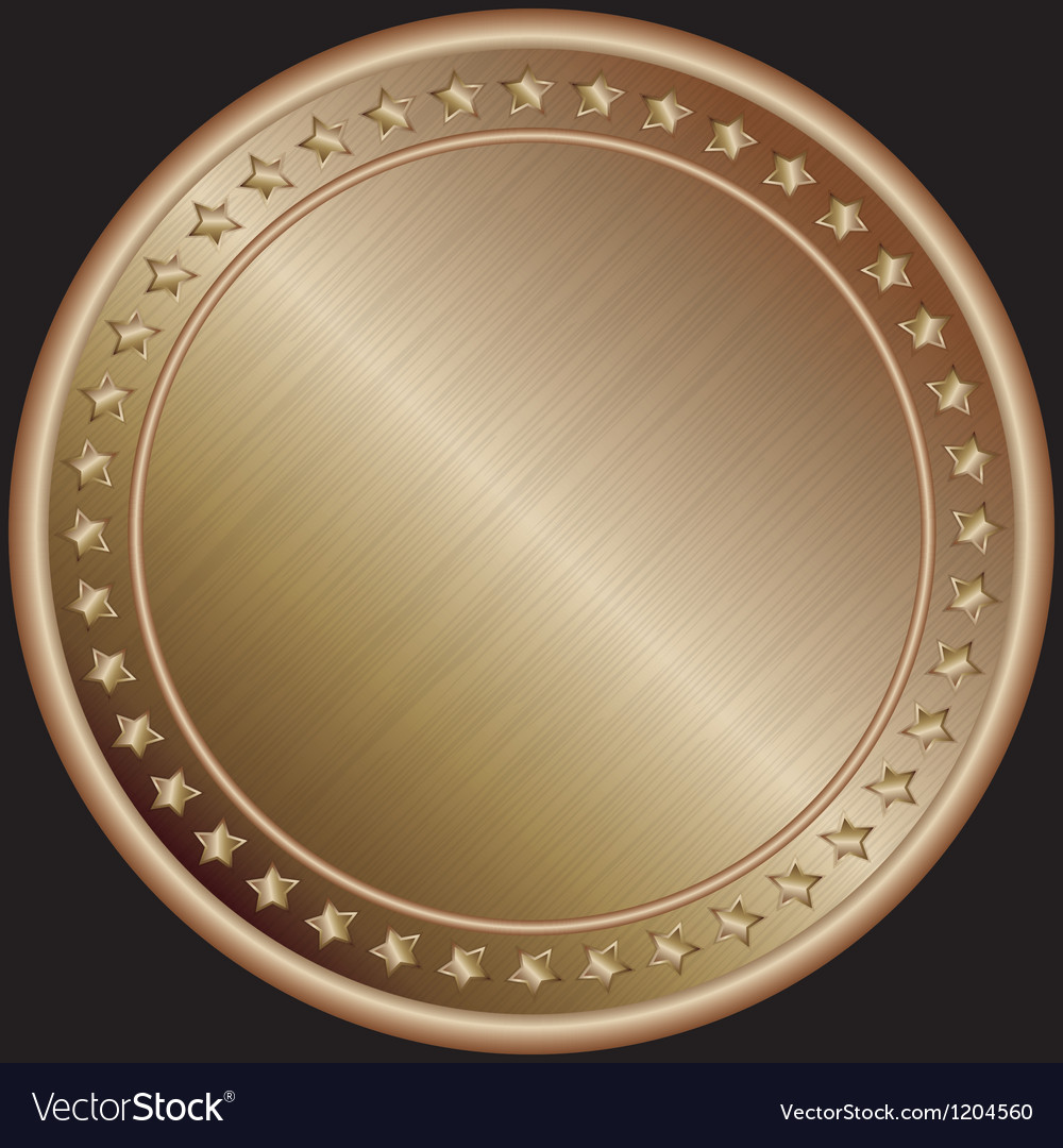 Bronze blank medal vector | Price: 1 Credit (USD $1)