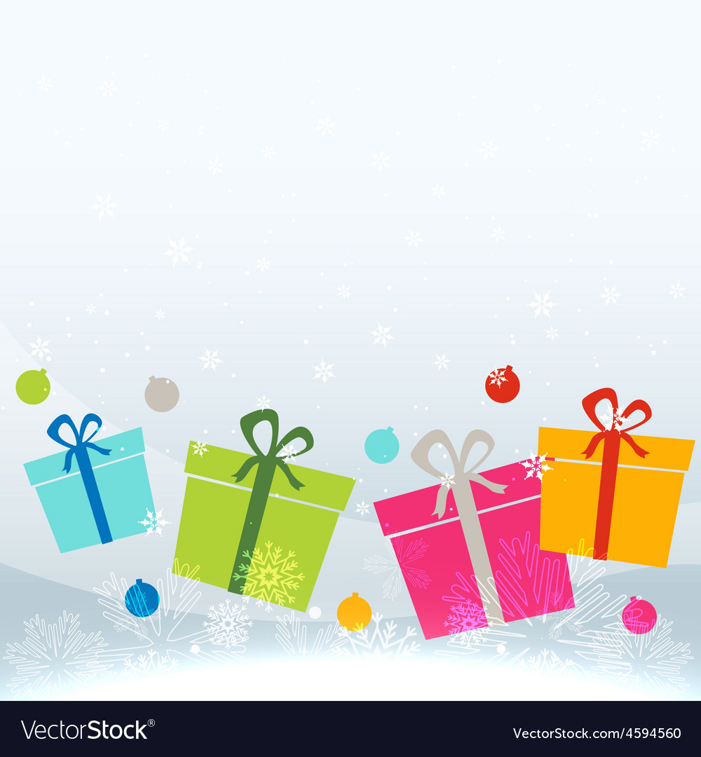 Colorful gift box vector | Price: 1 Credit (USD $1)