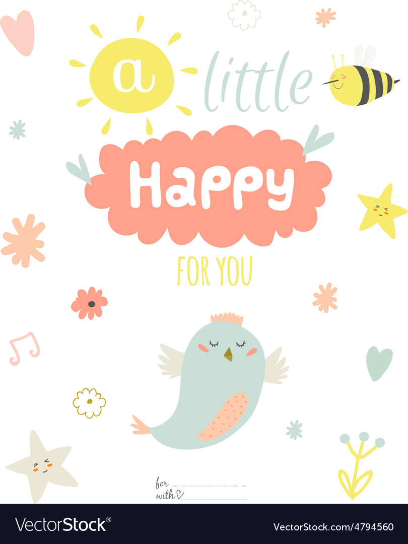 Cute summer card with character vector | Price: 1 Credit (USD $1)