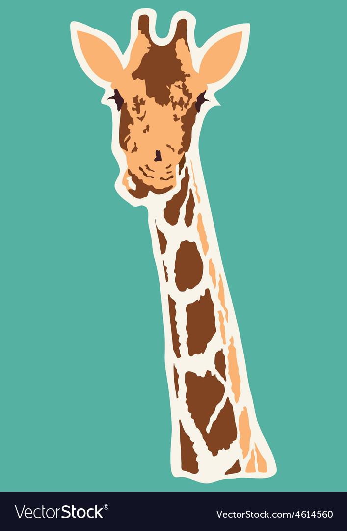 Giraffe abstract vector | Price: 1 Credit (USD $1)