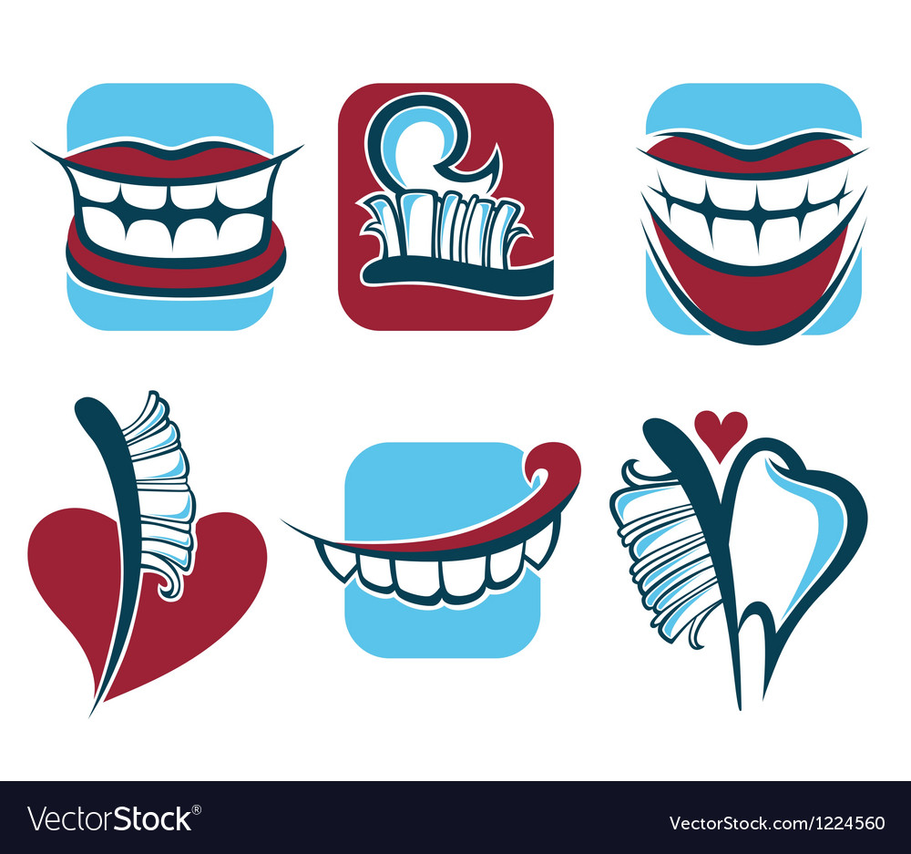 Healthy smile dentist collection vector | Price: 1 Credit (USD $1)