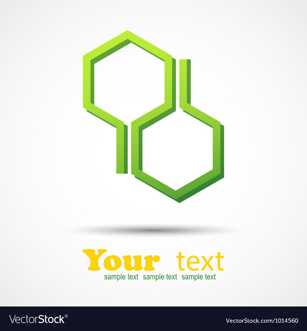 Honeycomb design element background vector | Price: 1 Credit (USD $1)