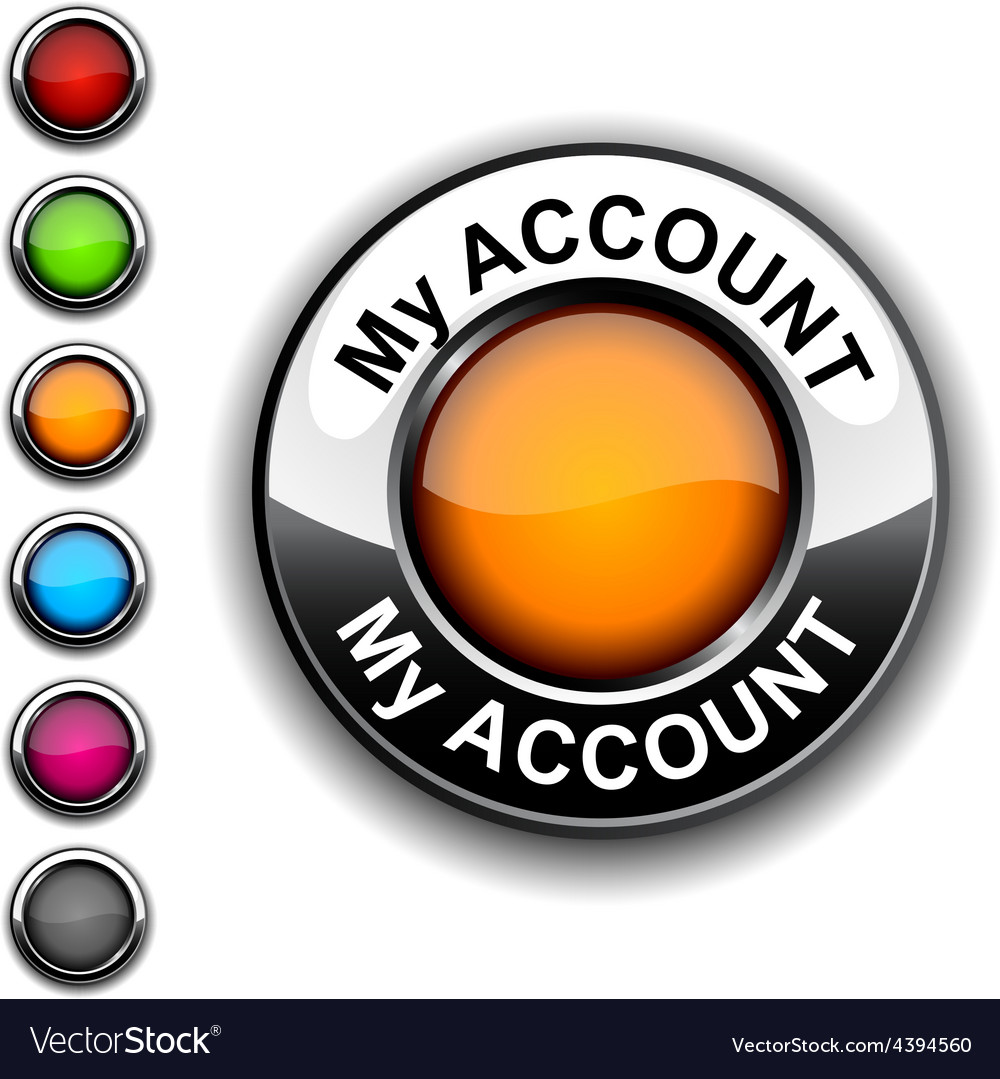 My account button vector | Price: 1 Credit (USD $1)