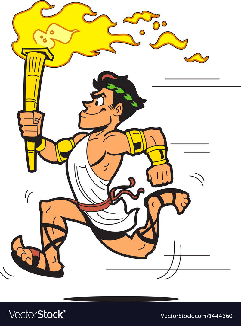 Olympic torch bearer vector | Price: 1 Credit (USD $1)