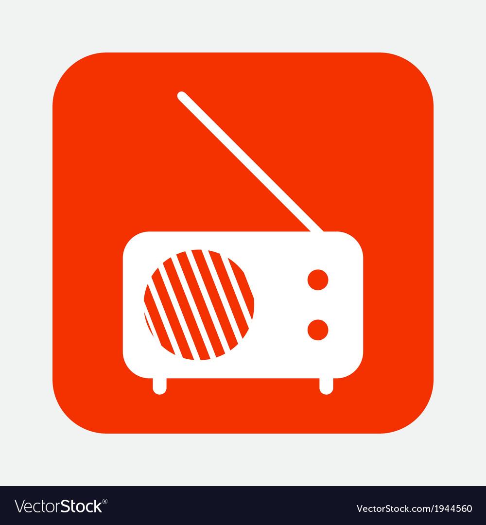 Radio icon vector   Price: 1 Credit (USD $1)