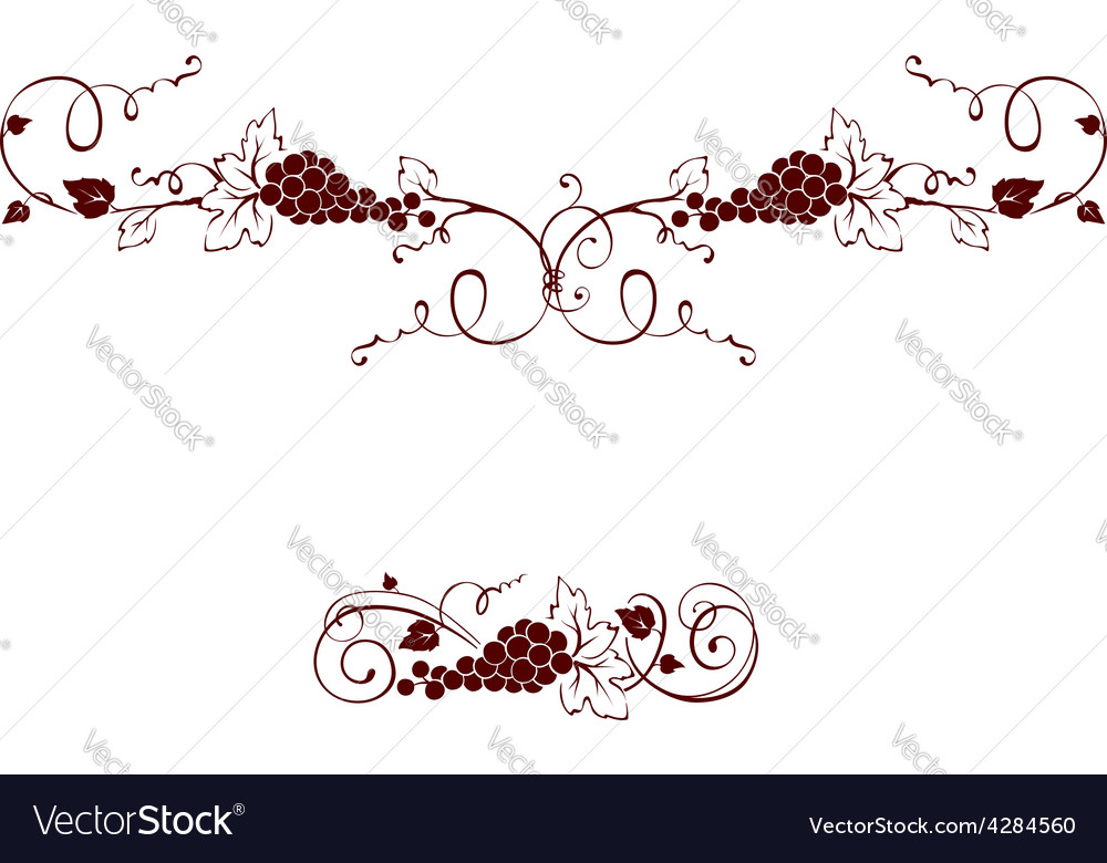 Set of design elements - grape vector | Price: 1 Credit (USD $1)