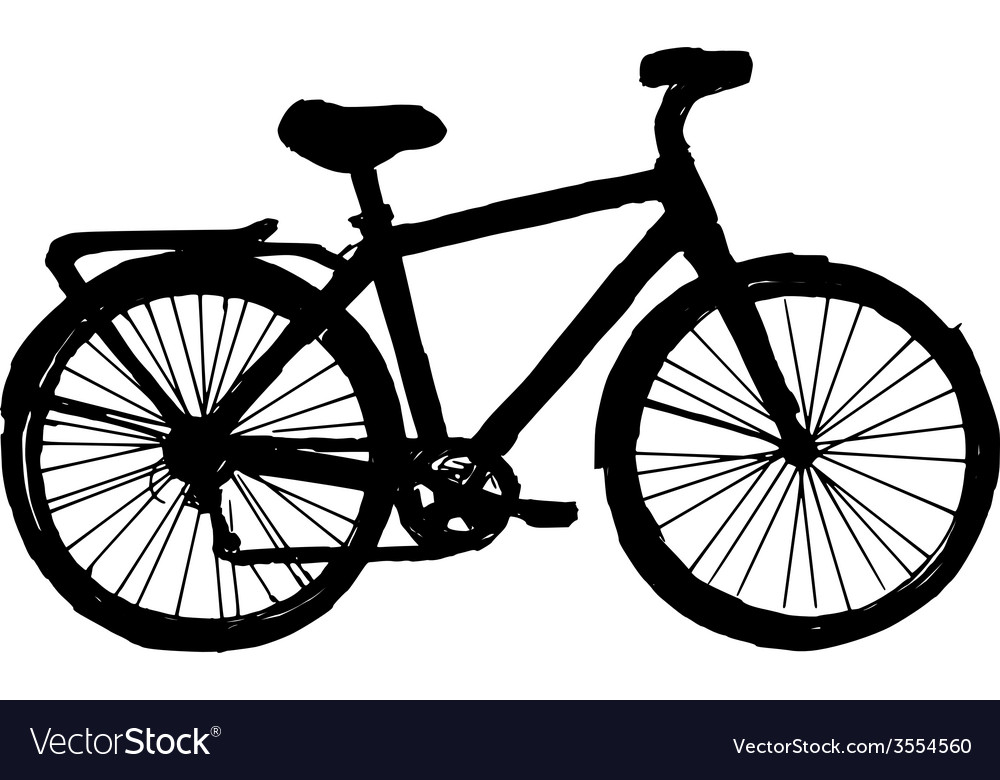 Silhouette of bicycle vector | Price: 1 Credit (USD $1)