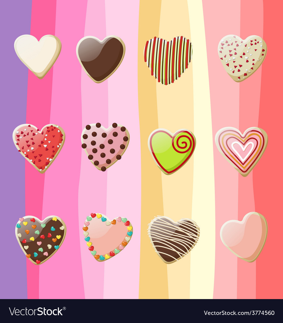 Sweet hearts valentine vector | Price: 1 Credit (USD $1)