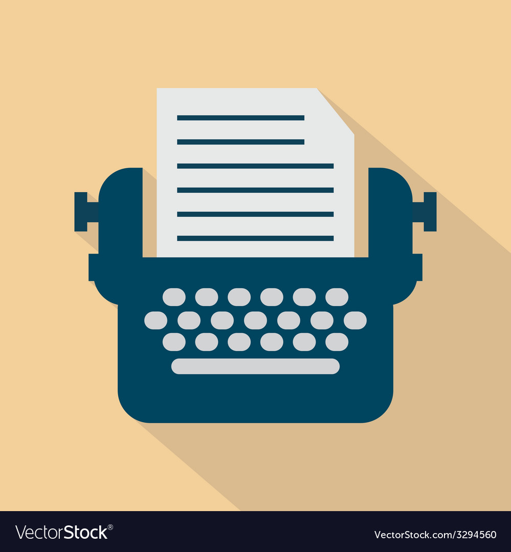Typewriter icon vector | Price: 1 Credit (USD $1)
