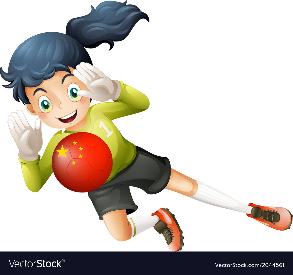 A female soccer player using the ball with the vector | Price: 1 Credit (USD $1)